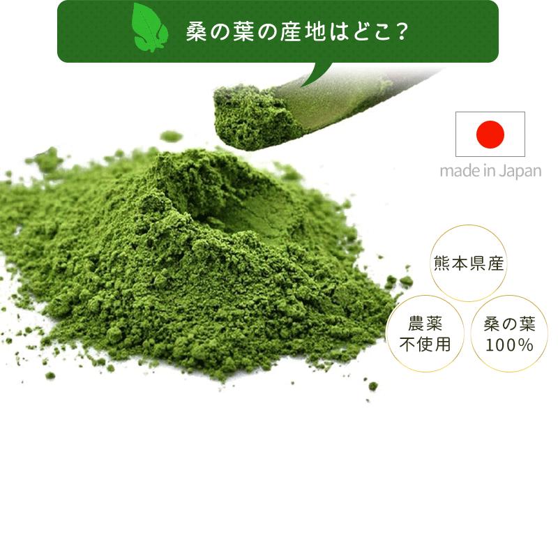 使用している桑の葉は無農薬の熊本県産です。
