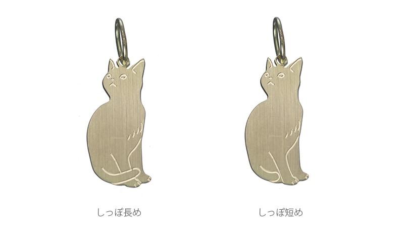 刻印のできる猫モチーフのK18チャーム