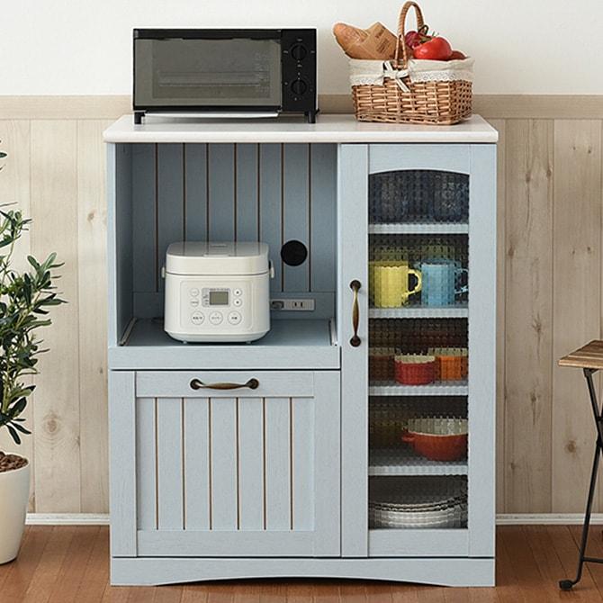 キッチンカウンター 幅75 フレンチ シックブルー