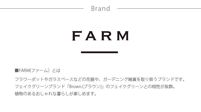 FARM ファーム スタンド付きミニポットカバー サナージ20  観葉植物 フェイクグリーン 鉢カバー ポットカバー ディスプレイ ボタニカル 植物 多肉植物 インテリア おしゃれ