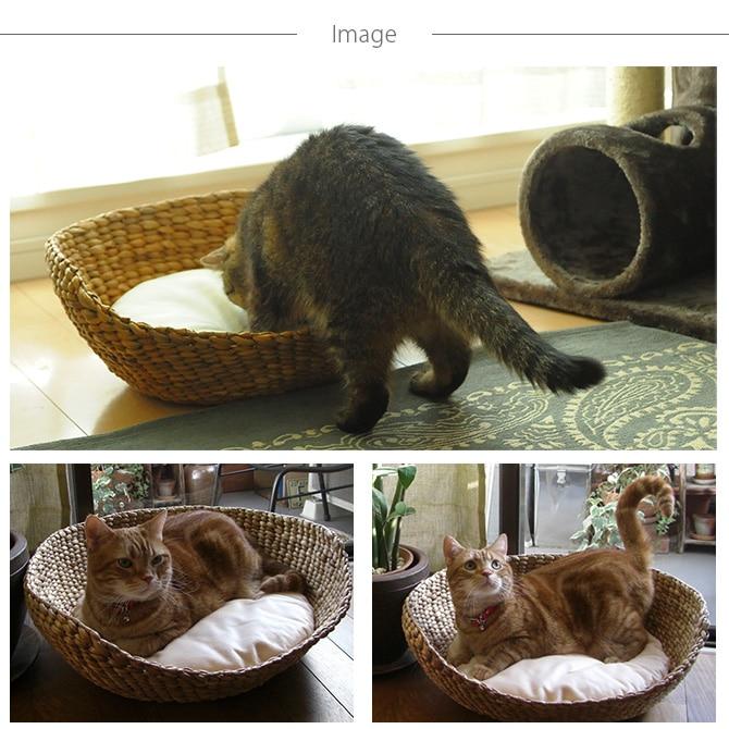 ナチュラルラウンドベッド ナチュラル  キャットベッド 猫用ベッド ベッド ハウス クッション 犬用 かわいい おしゃれ 猫用 ネコ いぬ 犬 イヌ