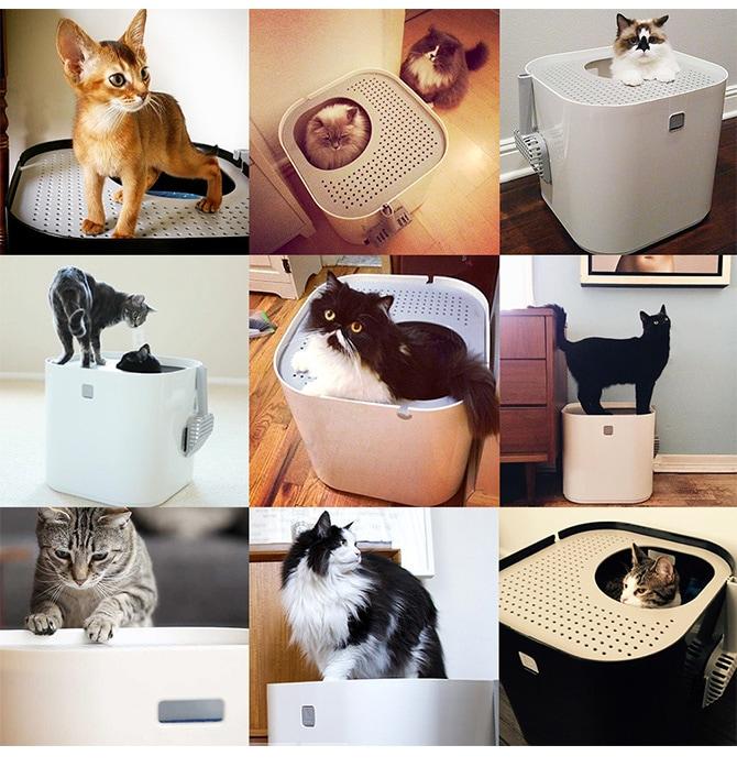 モデコ(modko)  Modkat Litter Box モデキャット リターボックス  猫 猫用トイレ トイレ 猫砂 おしゃれ 上から 砂 ネコ ねこ トイレ容器 猫トイレ