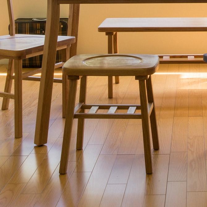 merge dining stool マージ ダイニングスツール(W38×D30×H42cm)
