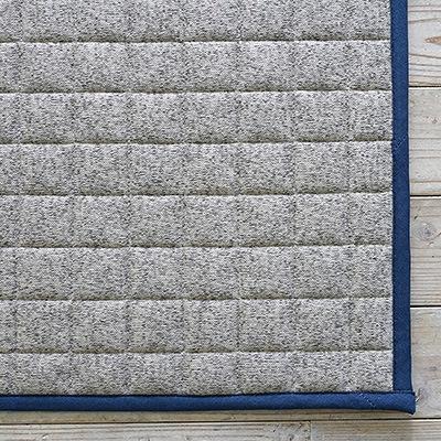 キルトラグ 杢調ニット 185×185cm