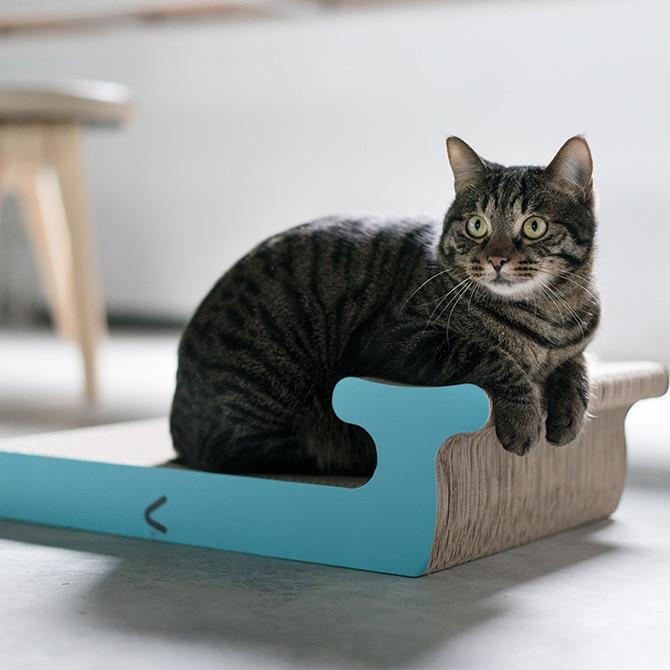 Cat Scratch Board / Whale (L)猫用つめとぎボード