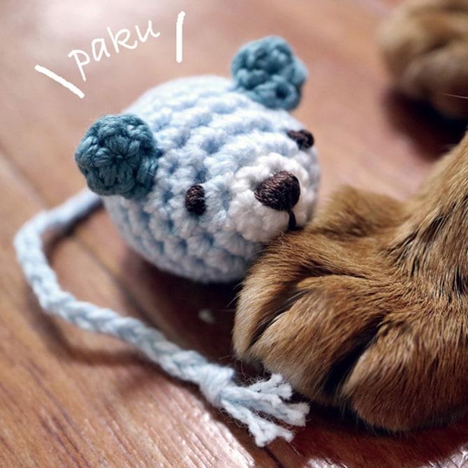 猫のおもちゃ あみあみネズミ&ボール