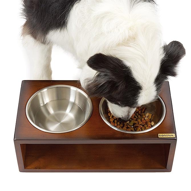 barketek バーキテック ダブル・フードボウル アイス  猫 犬 食器 フードボウル おしゃれ ステンレス 台座 ねこ 猫用品 ペット用品