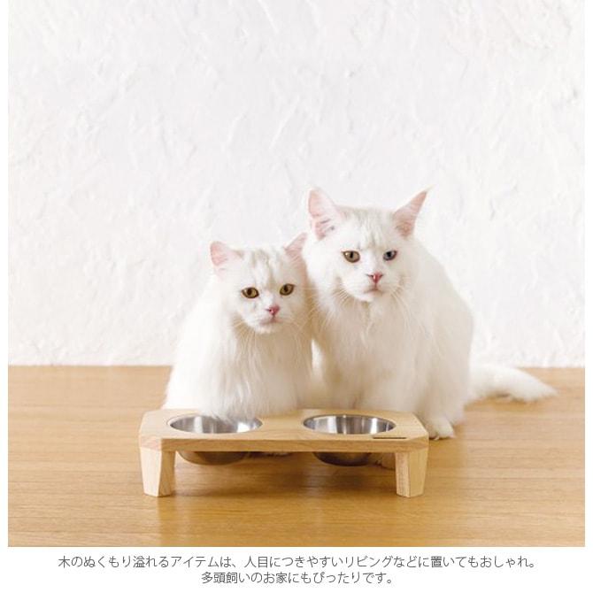 barketek バーキテック ダブル・フードボウル フリッツ  猫 犬 食器 フードボウル おしゃれ ステンレス 台座 ねこ 猫用品 ペット用品