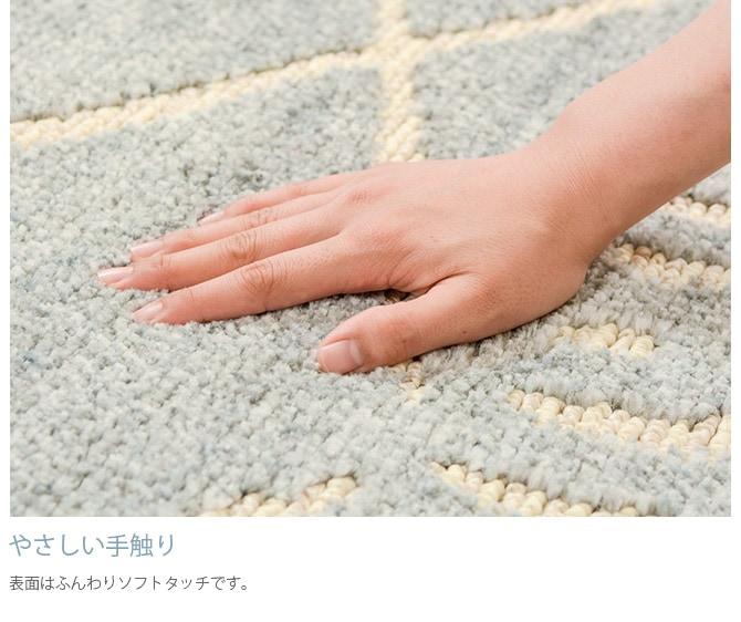 タフトラグ 防ダニ加工 長方形 185×240cm  ラグ 防ダニ 防臭 おしゃれ ペット 185×240 長方形 ホットカーペット対応 床暖房対応 子供