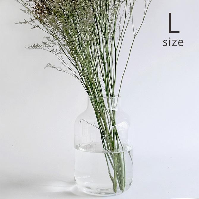 リューズガラス フラワーベース ユーリ L