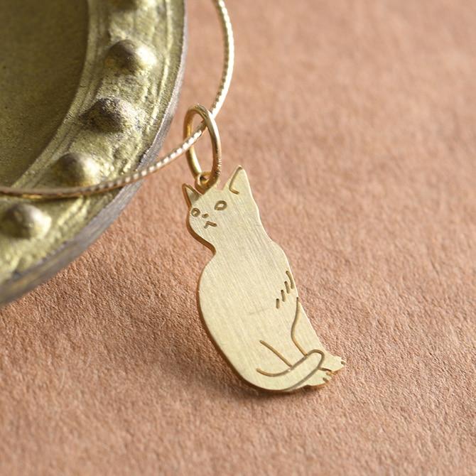 K18 Cat charm 猫のチャーム Kuro