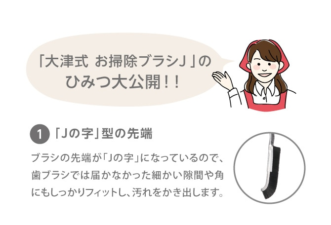 PROIDEA プロイデア 大津式 お掃除ブラシ J