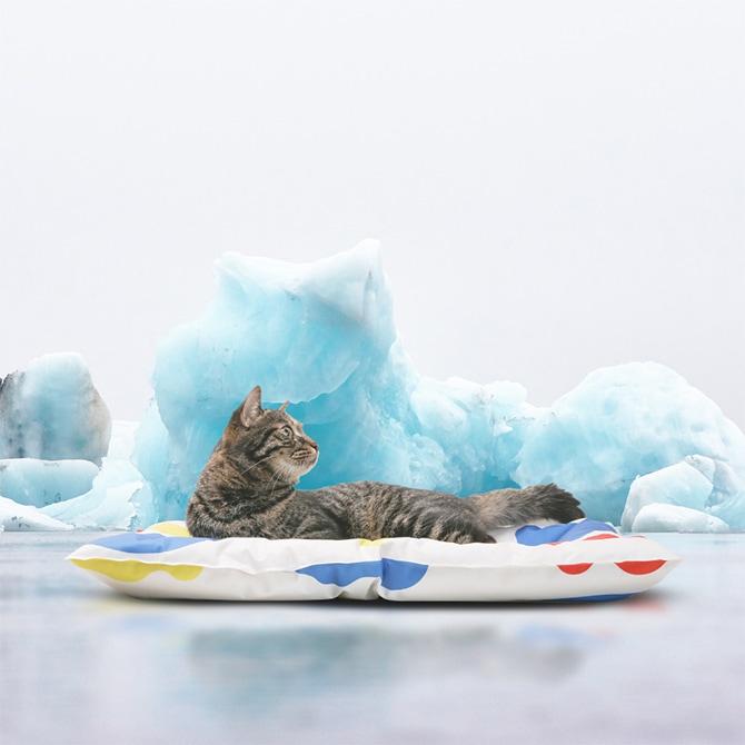 pidan ピダン クールマット アイスクリーム柄  犬用 猫用 ひんやりマット ひんやりジェル ひんやりベッド 熱中症対策 暑さ対策 夏