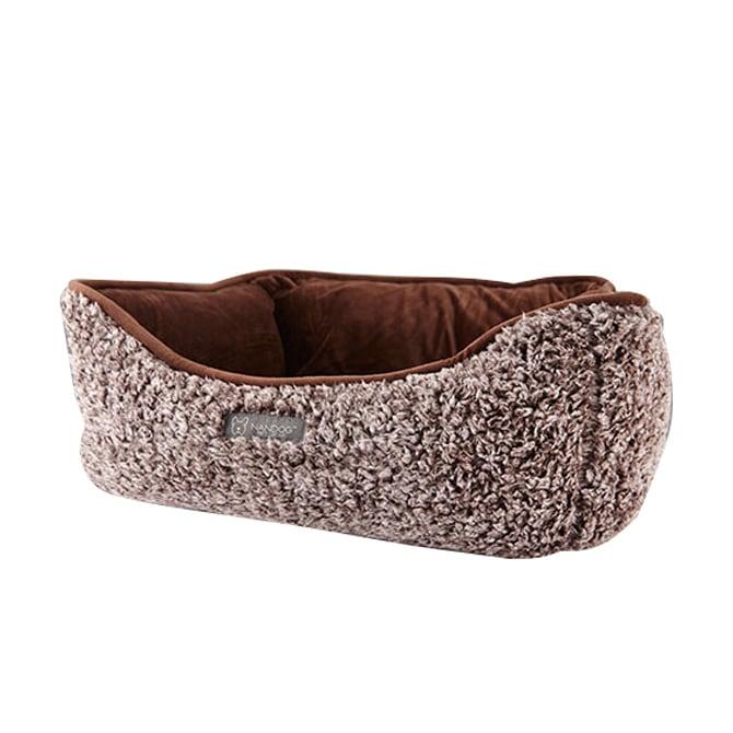 NANDOG ナンドッグ リバーシブル シャギー ベッド ブラウン  犬 猫 ベッド カドラー リバーシブル ふわふわ