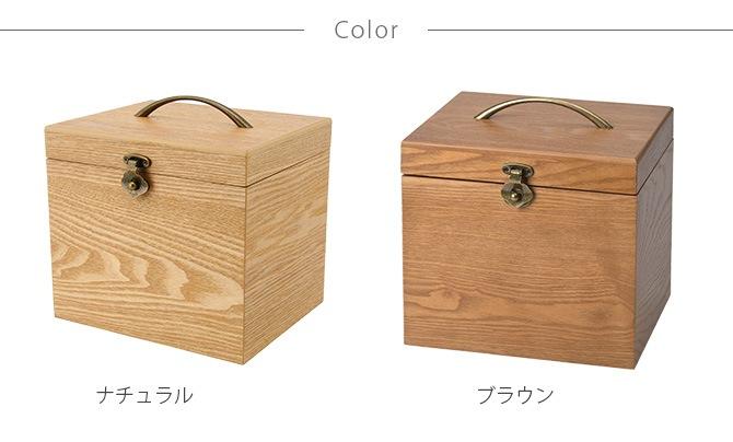 ナチュラルウッド 横型 コスメボックス ワイドミラー  木製 メイクボックス コスメティック 鏡 北欧 ナチュラル おしゃれ シンプル 化粧品 収納