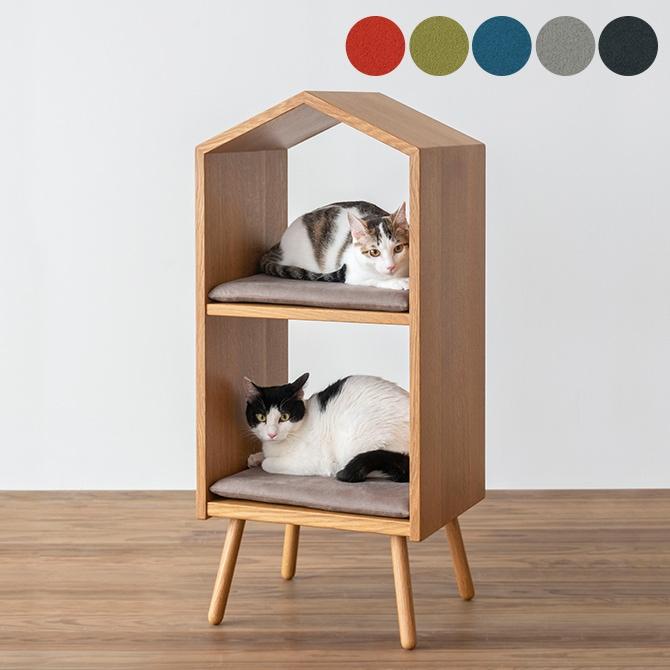 森のペット家具 ネコハウス(本体+クッション2個セット)
