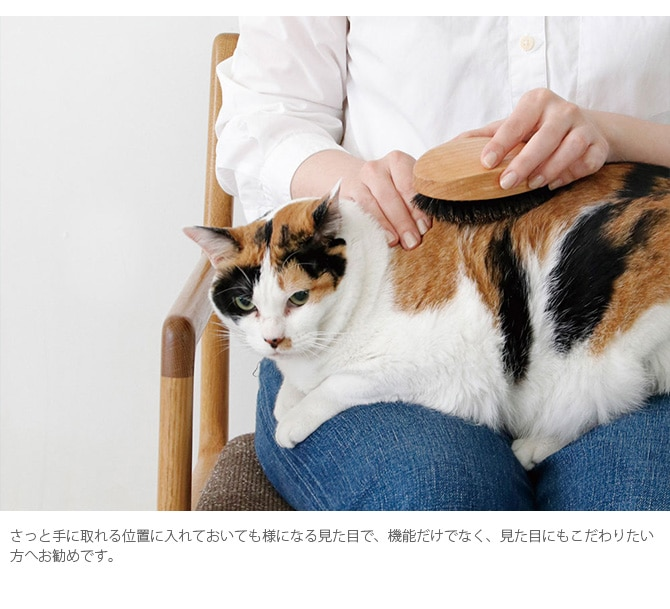 PET ブラシ オークウッド BOAR  猫用 ブラシ 艶出し ブラッシング クシ 櫛 毛づくろい