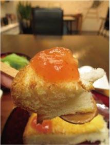 ウモガ ブログ Cafe gallery 銀色 スープランチ イチジクのジャム