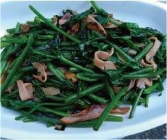 ウモガ ブログ 山の幸 野菜 炒め物