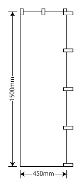 のぼり旗45×150cm