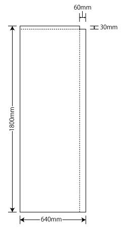 袋のぼり旗64×180cm
