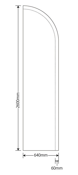 セイルバナー64×260cm