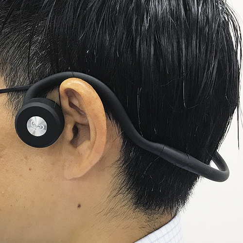 骨伝導ヘッドホン型耳もとスピーカー Bluetooth ワイヤレス ヘッドホン 集音器 無線 ブルートゥース DenDen でんでん 送料無料 骨伝導 ヘッドフォン ヘッドホン型 骨伝導ヘッドホン 難聴 耳が遠い 耳に入れない クリア 聞こえ
