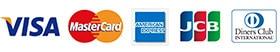 VISA MasterCard AmericanExpress JCB DinersClub