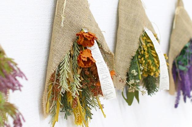 フェイク ドライフラワー ブーケ 6種類 (造花) スワッグ