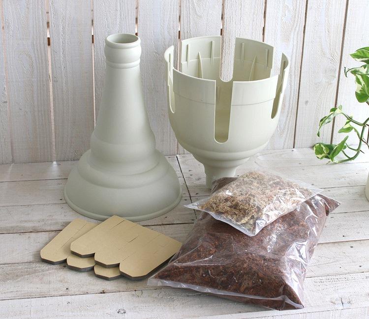 ◆花うるるオリジナル培養土・ミズゴケセットです◆「スリットプランター寄せ植えキット」 (寄せ植え プランター 鉢 スリット)