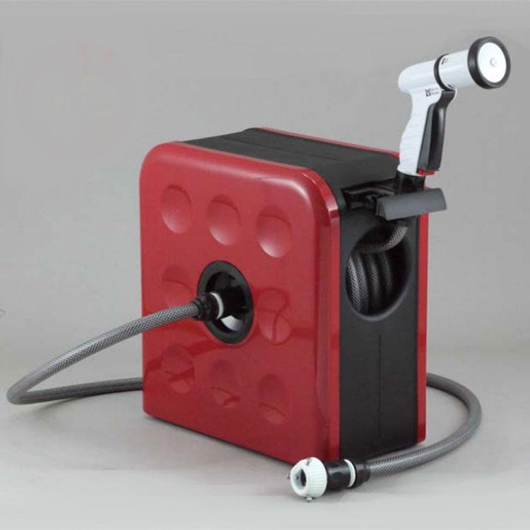 三洋化成 スタイリッシュ コンパクト リール「S-BOX」ホースサイズ 20m (ブラウン・レッド・ブルー)
