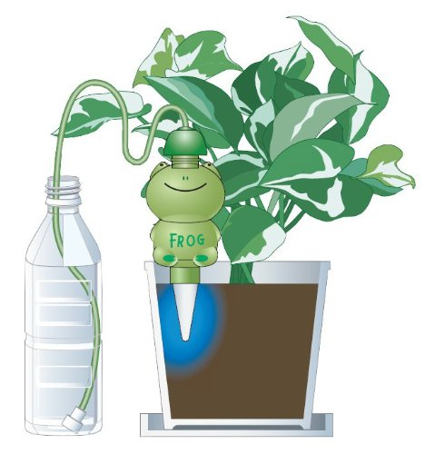 「水やり当番 カエル君(1個入)」電池も電源も不要。あなたに代わって水やりしてくれます!