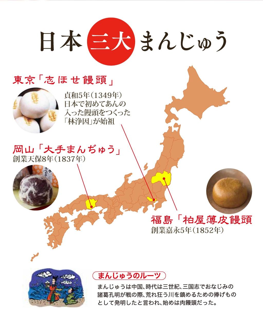 日本三大まんじゅう