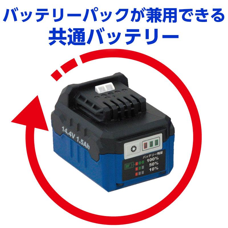 共通バッテリー電動工具エレバリオ