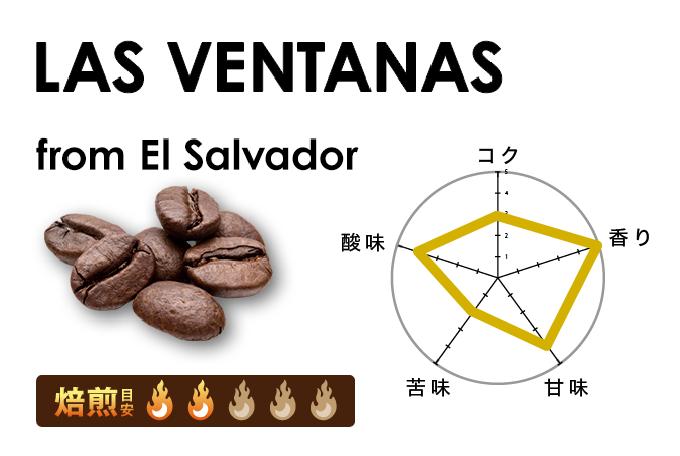 ラス・ヴェンタナス農園/エルサルバドル 200g