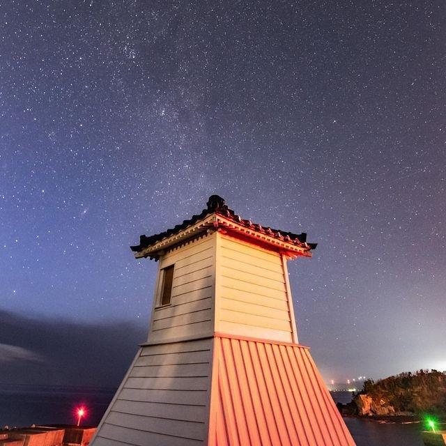 「最古の木造灯台 旧福浦灯台」