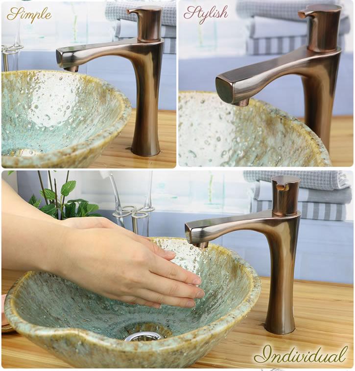 手洗い鉢用水栓金具 蛇口 立水栓