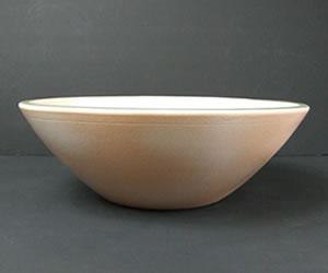 陶器の洗面ボウル