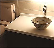 洗面ボウルの設置例52
