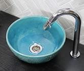 手洗い鉢 信楽焼き手洗器 陶器の手水鉢 洗面ボウル 陶器ボウル