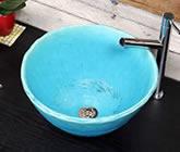 トルコブルー 手洗い鉢