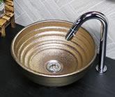 火色窯肌 手洗い鉢