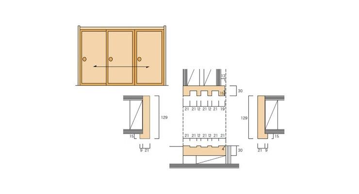 2×4和室用の和〜洋 引違枠(3本引)