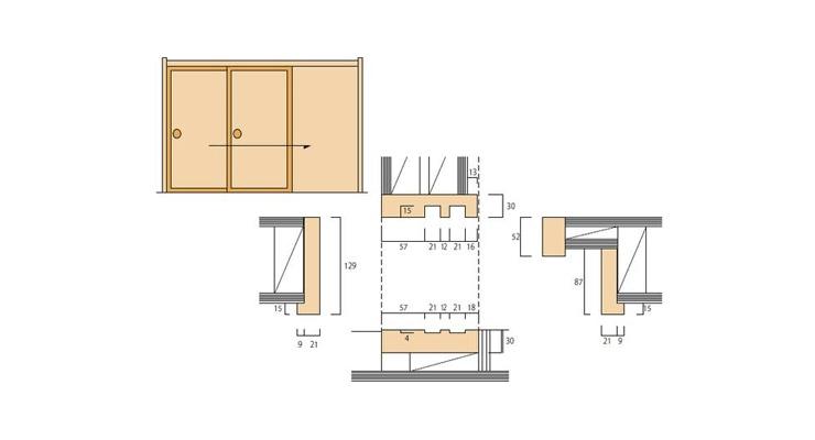 2×4和室用の和〜洋 引込枠
