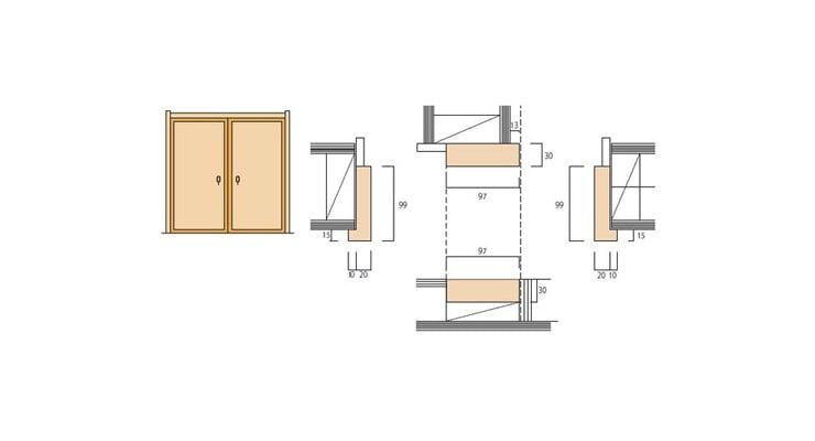 2×4和室用の押入 開戸枠