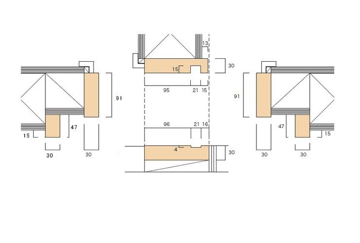 大壁和室用の和〜洋 片引枠