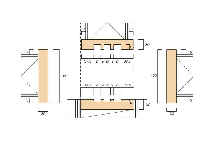 大壁和室用の和〜洋 引違枠(3本引)