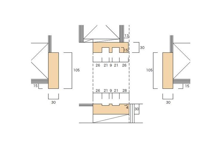 大壁和室用の 押入 引違枠