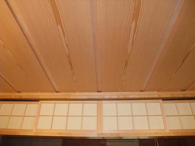 施工例ー真壁部材/天井材