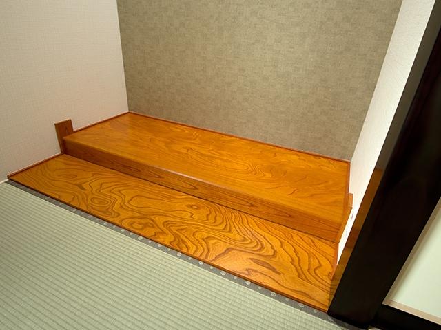 施工例ー床の間材